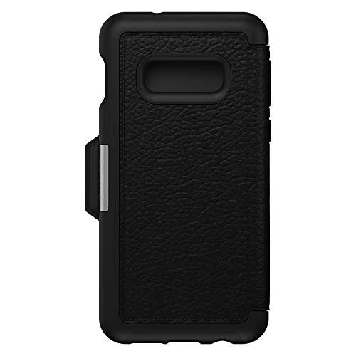 OtterBox Strada Etui - Elegante, sturzsichere Folio Schutzhülle aus echtem Leder für Galaxy S10e, schwarz