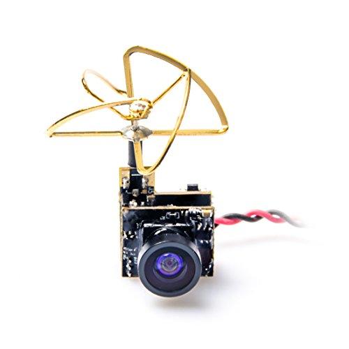 Akk S25,8g 48CH 25mW VTX 600TVL 1/3CMOS AIO FPV Kamera mit Clover Antenne für FPV Drone wie kleine Whoop Klinge inductrix etc.