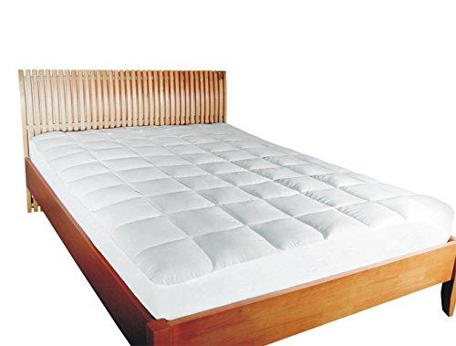 MESANA Premium Matratzen-Schoner | Größe: 180x200 cm, Höhe: 27cm | weiß aus Soft Touch Microfaser | 100% Polyester | Matratzen-Auflage auch für Ihr Boxspring-Bett und Wasserbett | Unter-Bett