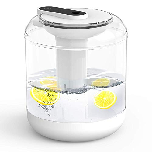 EUKO humidificador ultrasónico silencioso 1000ml humidificadores de Aire con alimentación USB Apagado automático con luz de Noche para Dormitorio de bebé, guardería, Oficina