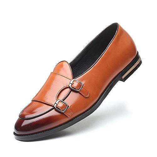 Ballyzess Zapatos De Cordones para Hombre Zapatos De Cuero Hebilla De Cinturón Zapatos De Hombre Zapatos De Hombre Zapatos Casuales-38