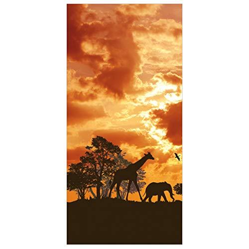Bilderwelten Raumteiler Tanzania Sunset 250x120cm inkl. transparenter Halterung