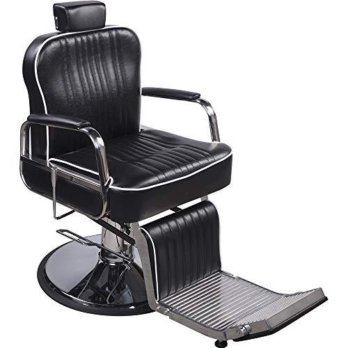 205029 - Silla de peluquería, color negro