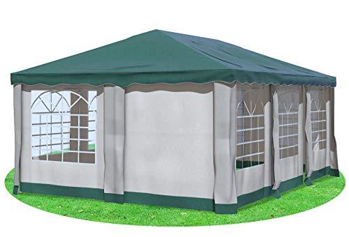 Stabilezelte Gartenpavillon 4x6 m Premium PVC Deluxe GRÜN