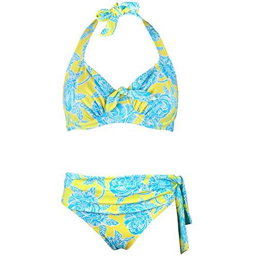 XYHJ Traje de baño de Gran tamaño Sexy para Mujer, Bikini de Cintura Alta, Traje de baño para Mujer, Conjunto de Bikini con Vendaje, Biquini, Traje de baño para Mujer