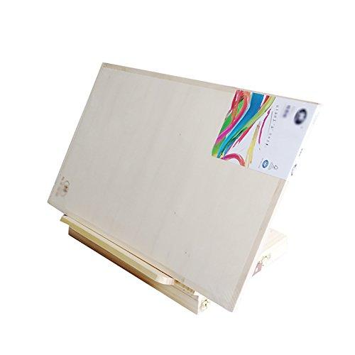 LINA Chevalet de Table de Bureau, Support de Peinture en Bois avec tiroir Multifonctionnel Pliant avec 8K Sketchpad, 30x45cm (Couleur : Easel 8K Sketchpad)