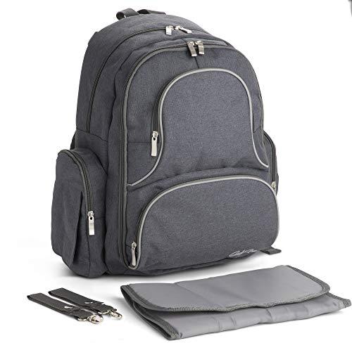 Wickeltaschen-Rucksack | Groß mit Wickelunterlage, Kinderwagengurte, YKK-Reißverschlüssen und mehr.