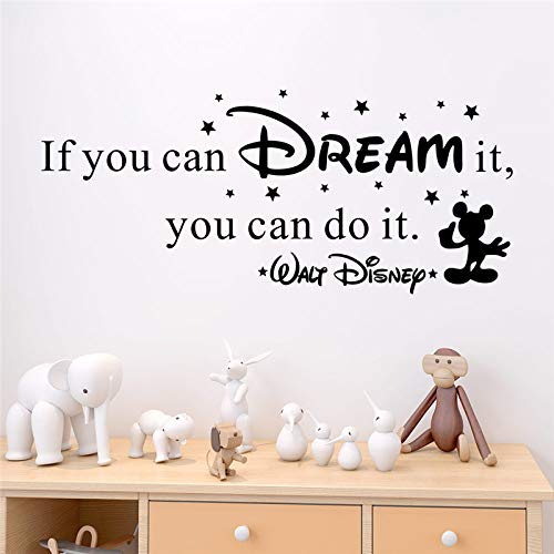 Creative If You Can Dream It You Can Do It Letters Wall Decals Bedroom Home Decor Wall Stickers Vinyl Mural Art 92 * 40Cm