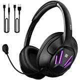 EKSA Computer Gaming Headset for PC - PS4 Headphones with 7.1 Surround Sound Detachable Microphone - Gaming Headphones for PC, PS4, Xbox One S/X, Nintendo Switch, Android