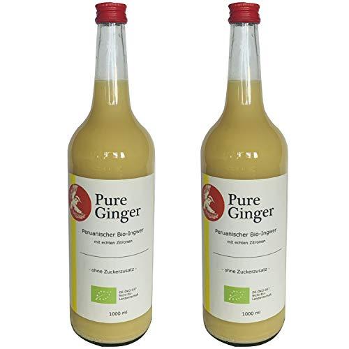 Pure Ginger – hochwertiger peruanische Bio-Ingwer ohne Zucker und künstliche Zusatzstoffe (2x1000ml)