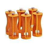 Bora Centipede 6-Piece Risers Set, Accessory for Bora Centipede Work Stands, Increase Working Height, CA0506, Orange