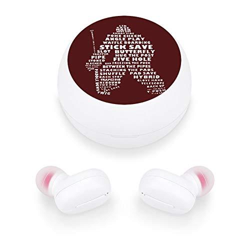 Audífonos inalámbricos elegantes y hermosos auriculares Bluetooth con mini estuche de carga, regalo para mujeres y niñas para llamadas/hogar/oficina/correr/fitness (Kieffer Shop Hockey Portere)