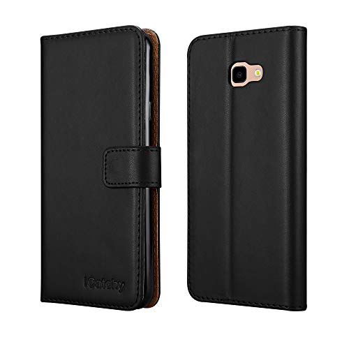 iCatchy for Galaxy J4 Plus Case Leather Wallet Flip Book Stand View Card...