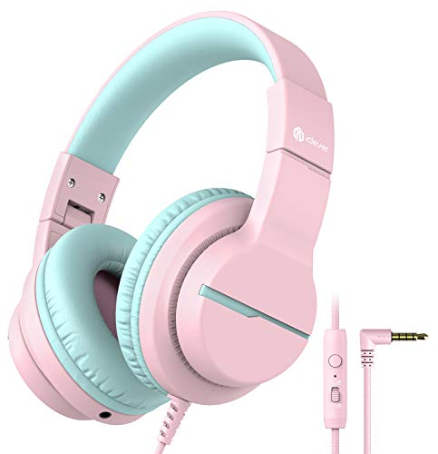 Product Image of the iClever HS19 Kids Headphones with Microphone, Volume Limiter 85/94dB, Sharing...