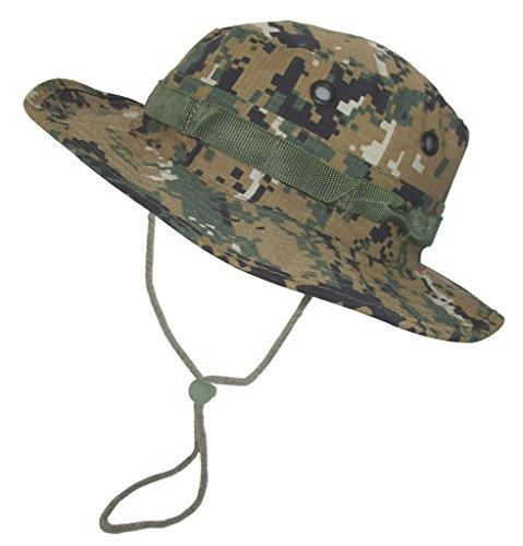 A. Blöchel US Army Outdoor Dschungelhut Rip Stop Boonie Hat Schlapphut in vielen Farben und Größen (XL, Digital Woodland)