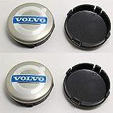 4 Piezas Tapas Centrales para Volvo S40 S60 S80L XC60 XC90 60mm, Coche Llanta Rueda Cubre Embellecedor Insignia, Emblema Logo Accesorios