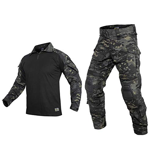 PAVEHAWKE G3 Combat Clothing Suit Camouflage with...