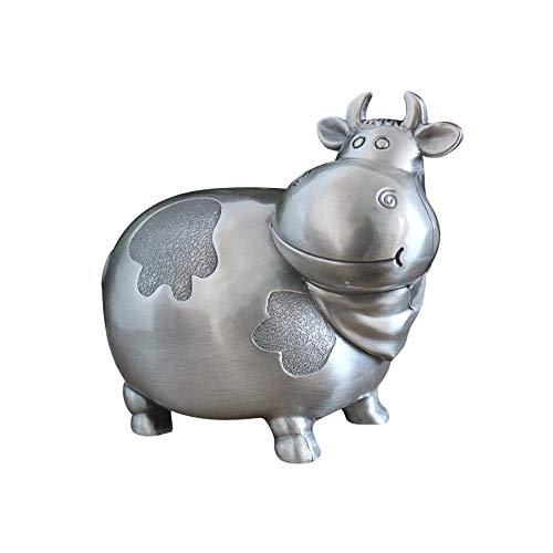 N/A HuchaTanque de Almacenamiento de Vacas de Metal Creativo Moneda Ahorro Caja estaño Caja de Vaca Tanque de Ahorro de Vaca