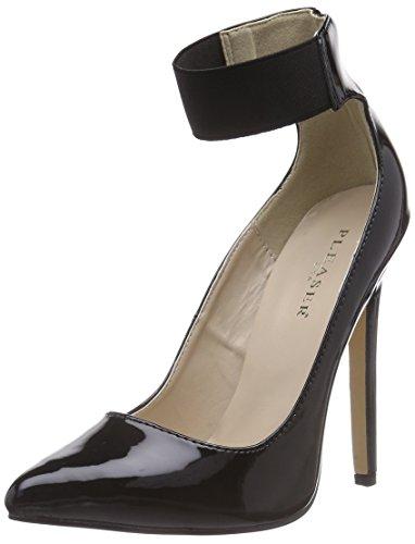 Pleaser SEXY-33 - Zapatos con Cierre al Tobillo de Material sintético Mujer, Color Negro, Talla 35
