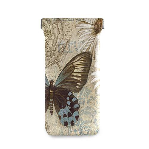 XiangHeFu zonnebril geval bril zak vlinder bloem bloem vintage brievenbus multiuse houder reisbril tas draagbaar