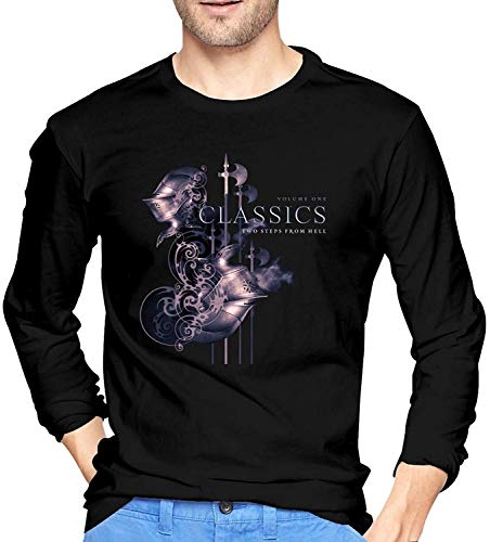 APPOLY T-Shirt Two Steps from Hell T-Shirt à Manches Longues pour Homme, 100% Coton