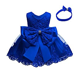 Royal Blue Color Tutu Dress With Rhinestones for Baby