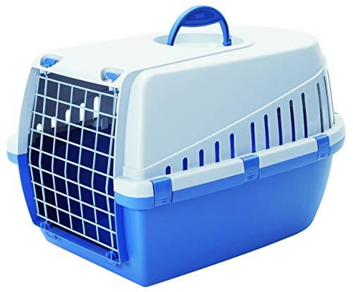 Savic - Trotter 3 - Cage de Transport pour Animal de Compagnie - Bleu/Gris Clair - 60,5 x 40,5 x 39 cm