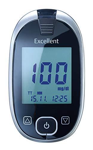 GlucoCheck Excellent Blutzuckermessgerät-Set mit 60 Blutzuckerteststreifen