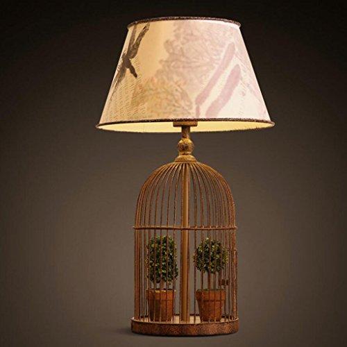 Lampe de table lampe de bureau Lampe de table en fer, lampe de table de salon de chambre à coucher lampe de table d'hôtel, lampe de table décorative rétro classique, E27