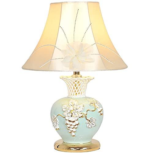 YANSJD Lámpara de Mesa de cerámica LED Dormitorio Lámpara de Noche Sala de Estar Estudio Comedor Sala de Bodas Personalidad Creativa Arte Decoración Lámpara Dormitorio Lámpara de Noche