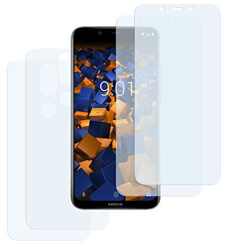 mumbi Schutzfolie kompatibel mit Nokia 8.1 Folie klar, Bildschirmschutzfolie (4X)