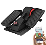 Cubii Pro Seated Under Desk Elliptical Machine for Home Workout, Pedal Bike Cycle Motion, Bluetooth sync Fitbit & Apple, Whisper Quiet, Compact Mini Exerciser w/Adjustable Resistance & LCD (Noir)