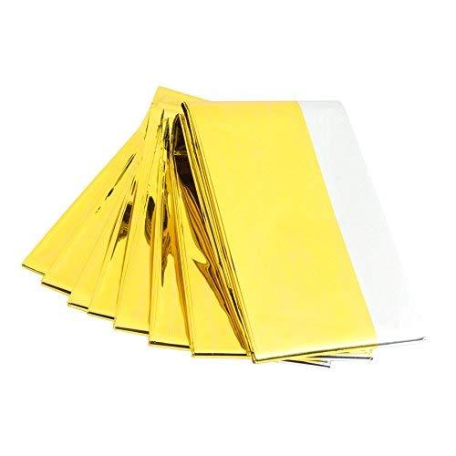 Sfeomi Notfall Rettungsdecke Rettungsfolie Notfalldecke Emergency Survival Thermal Blankets Wärmedecke Gold Silber 160 x 210 cm (10 Stück)