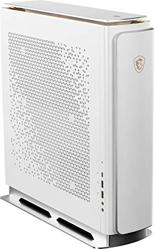 MSI Prestige P100 Desktop-Computer für Grafik, Intel Core i9-9900KF 8 Core, NVIDIA GeForce RTX 2080 Ti 11GB, RAM 64GB, HDD 4TB und SSD 1TB, Windows 10 PRO, weiß