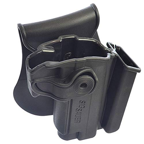 Polymer Holster with integrated Mag Pouch for Sig Sauer Mosquito Black