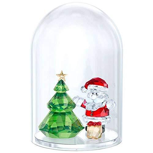 Swarovski GLASGLOCKE, albero di Natale e Babbo Natale, cristallo, multicolore, 4, 8 x 3,8 cm