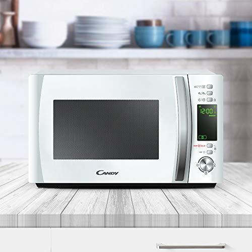 Candy CMXG 20DW Microondas con Grill y Cook In App, 40 Programas Automáticos, 1000 W, 20 litros, Blanco