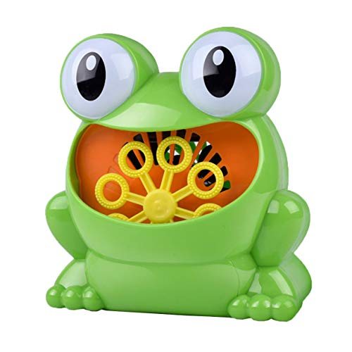 YUIO® Outdoor Green Frog Bubble Baby Bath Toy Bubble Maker Swimming Swimming Soap Machine Toys With Music Water Toys ()