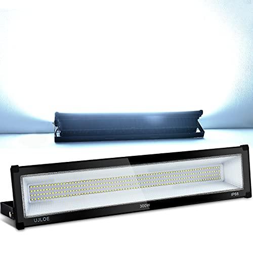 300W LED Flood Lights Outdoor, IP66 Waterproof, 33000LM, 2000W Equivalent, 100V-120V, Super Bright Outdoor Security Lights, 6000K Daylight White, Floodlights for Yard, Garage, Garden, Lawn