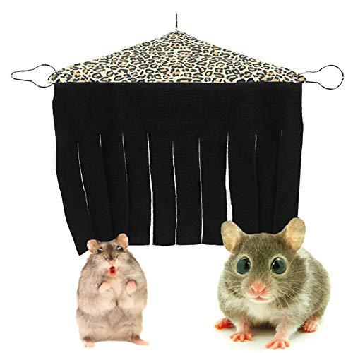 Klikken Huisdier tent, Guinea Varken Hideout, Hoek Doek Kwastjes Gordijn Hideaway Voor Kleine Dieren Huisdier Hamster Tent Forest Hideout Hangmat Hangende Bed Hoek Nest voor Guinea Varken Chinchilla Ferret, Luipaard