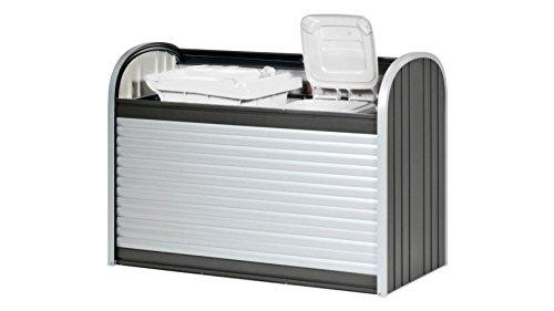 Biohort - Box pre-montato con serranda Storemax da 160 cm, colore: Grigio scuro metallizzato
