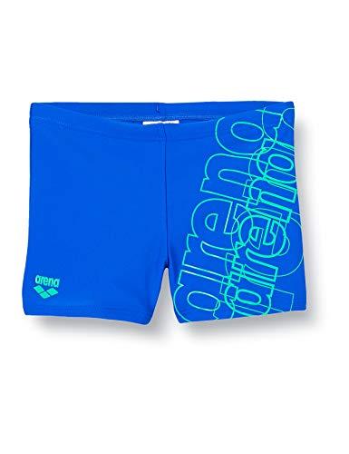ARENA Herren Bañador Minishort Stripes Low Waist Short Schwimm-Slips, neonblau/Golf, 6-7