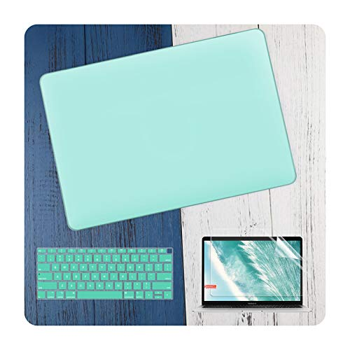 3 in 1 Laptop Case for MacBook Air 11 13 Inch & Pro Retina 16 13.3 15 2019 2020 Crystal Matte Hard Shell Cover Keyboard Skin-Matte Green-A2338 A2251 A2289