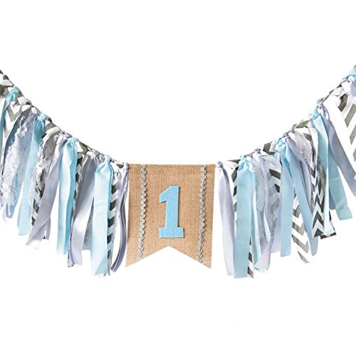 Full Win Ocean Style Highchair Banner Baby Girls Boys 1st Birthday Party High Chair Bunting Garland Decoration