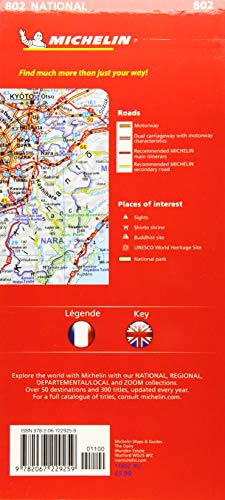 Mapa National Japón: 802 (Mapas National Michelin)