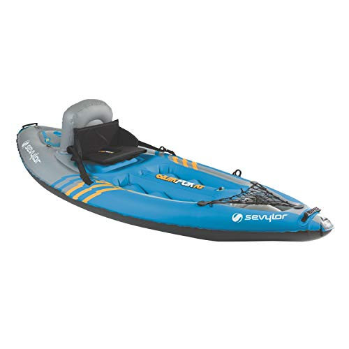 Sevylor Quikpak K1 1-Person Kayak Blue, 8'7
