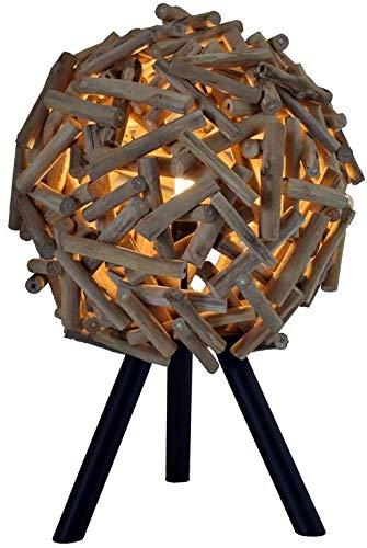 Dekorative Treibholz Lampe Tisch Handarbeit E27 Schwemmholz Tischleuchte Wohnzimmer KALASIN