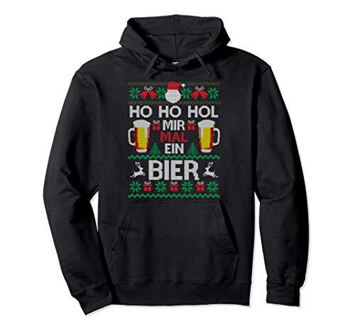 Ho Ho Hol Mir Mal Ein Bier I Lustiger Ugly Christmas Pullover Hoodie