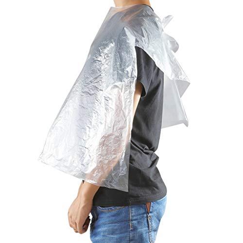 Nyuiuo Tela de peluquería Transparente Impermeable y a Prueba de Polvo Familia Barber Shop Protección del Medio Ambiente Desechable 60 * 90cm 50pcs / 100pcs