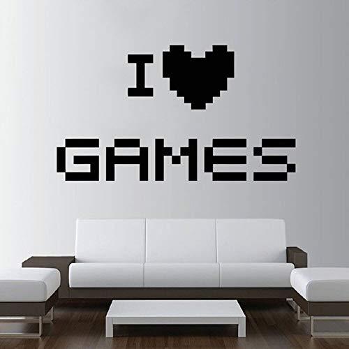 Juego pegatinas de pared decoración del hogar dormitorio arte tatuajes de pared decoración de la habitación de los niños Me encantan los juegos